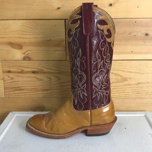 Custom Anderson bean square toe cowboy boots 8.5
